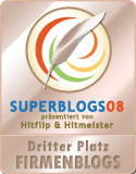 Die Sieger der Superblogs 2008 - 3. Platz in der Kategorie Firmenblogs