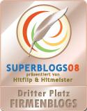 Die Sieger der Superblogs 2008 - 3. Platz in der Kategorie Firmenblogs